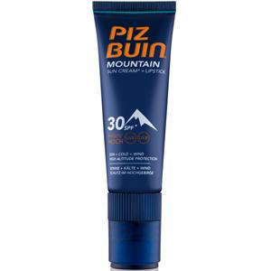 Piz Buin Mountain suncream + lipstick SPF 30