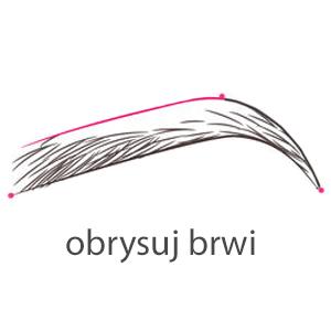 obrysuj łuk brwiowy