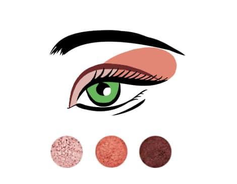 Makijaż do czerwonej sukienki i zielonych oczu