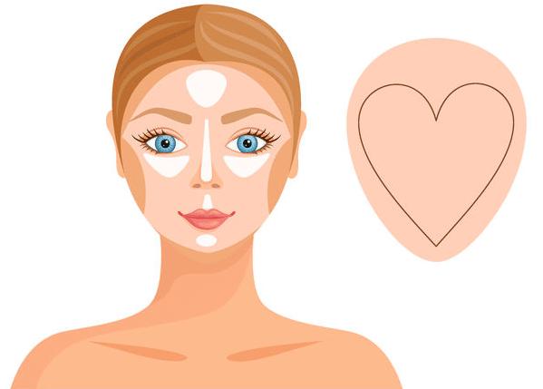 twarz w kształcie serca