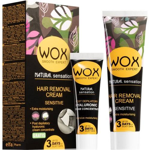 WOX Natural Sensation Hair Removal Cream Sensitive